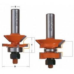 Zestaw frezów do łączenia na pióro i wpust typu V