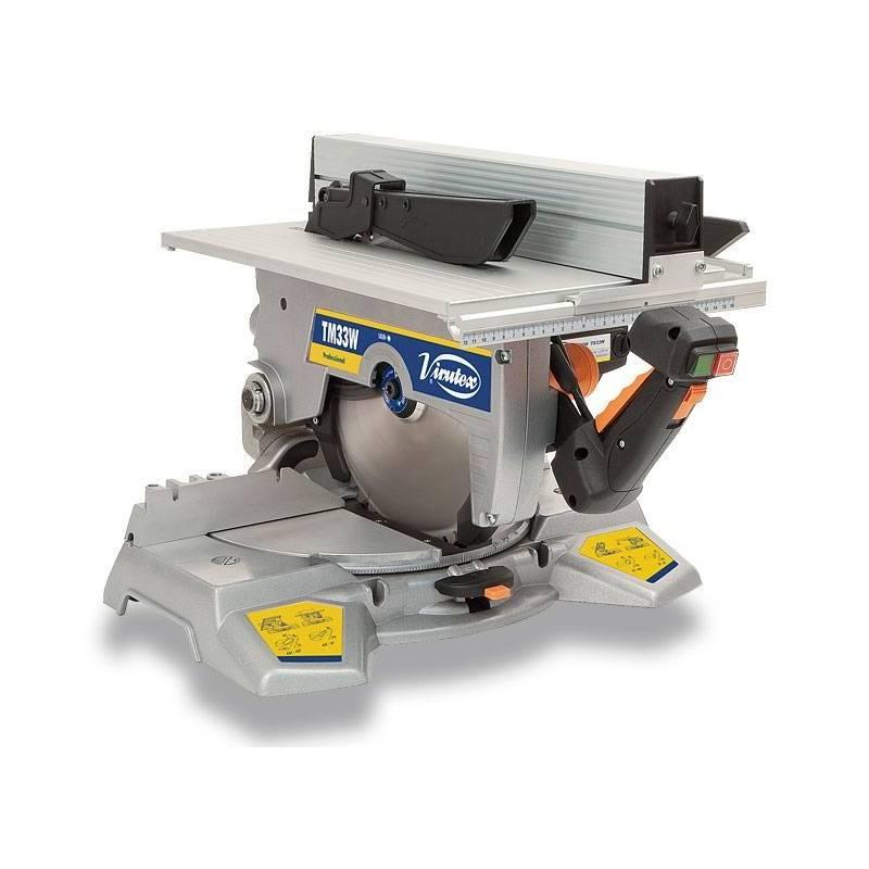 TM33W Ukośnica - pilarka stołowa 1500W 3700RPM śred. tarcz. 300mm prowad. 57mm 20kg VIRUTEX