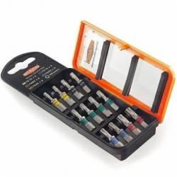 20896.STACO Zestaw bitów 12szt. 1/4x25mm TX10,15,20,25,30 Kolorowe STACO NORDIC