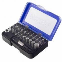 20943.STACO Zestaw 32 bitów 1/4 25mm TX PH PZ Płaski HEX uchwyt szybkomontażowy niebieskie pudełko STACO NORDIC