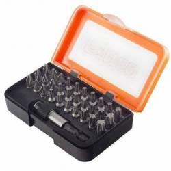 20946.STACO Zestaw 31 bitów 1/4 25mm TX PH PZ uchwyt szybkomantożowy pomarańczowe pudełko STACO NORDIC
