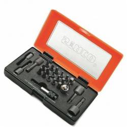 20951.STACO Zestaw bitów 24szt. 1/4x25mm TX,PH,PZ REGIPS nasadki 8-13+Uchwyt STACO NORDIC