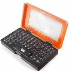 20966.STACO Zestaw bitów 66szt. 1/4x25mm PH1,2,3 PZ1,2,3 HEX2,0-6,0 TX, Płaski plus uchwyt STACO NORDIC