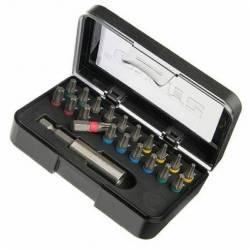 20982.STACO Zestaw bitów 21szt. 1/4x25mm TX 10,15,20,25,30+ uchwyt do bitów magnetyczny STACO NORDIC