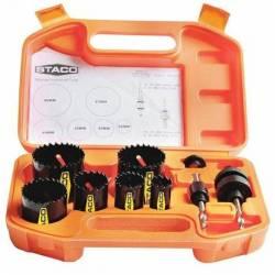 55350.STACO Zestaw otwornic 9szt-walizka Bi-Metal/HSS 22-56mm STACO NORDIC